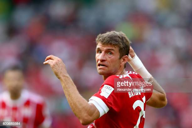 Thomas Mueller of Muenchen reacts during the International Champions Cup Shenzen 2017 match between Bayern Muenchen and AC Milan at on July 22 2017...