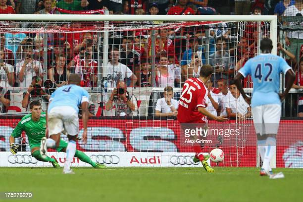 manchester city thomas mueller stock photos and pictures getty images. Black Bedroom Furniture Sets. Home Design Ideas