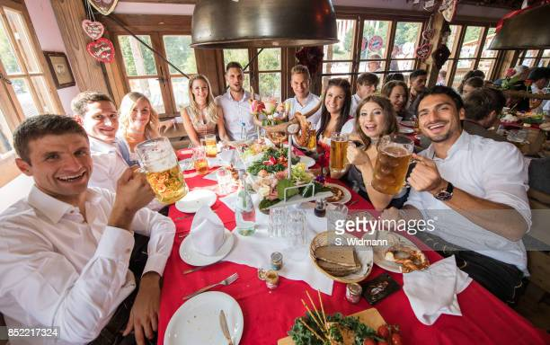 Thomas Mueller Sebastian Rudy his wife Elena Rudy Goalkeeper Sven Ulreich and his wife Lisa Joshua Kimmich and his girlfriend Lina Meyer and Mats...