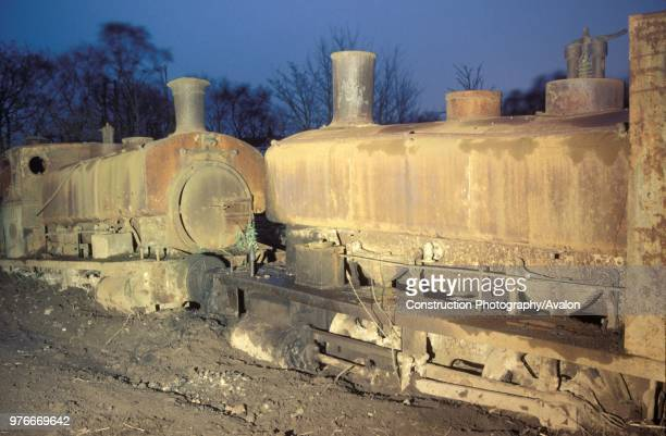 Thomas Muir's scrapyard at Easter Balbeggie Fife with right Grant Richie 040ST No61 works No272 of 1894 with left Andrew Barclay 040ST No22 works...