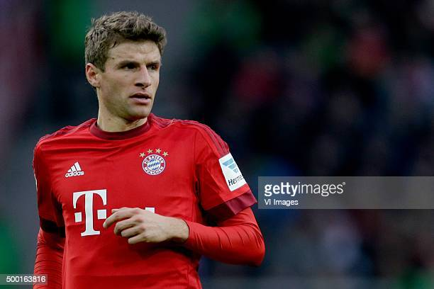 Thomas Muller of Bayern Munchen during the Bundesliga match between Borussia M#246nchengladbach and Bayern M#252nchen on December 5 2015 at the...