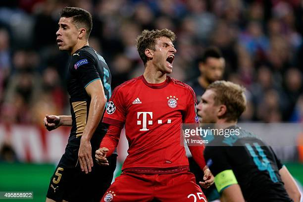 Thomas Muller of Bayern Munchen during the Champion League group F match between FC Bayern Munich and Arsenal FC on November 4 2015 at the Allianz...