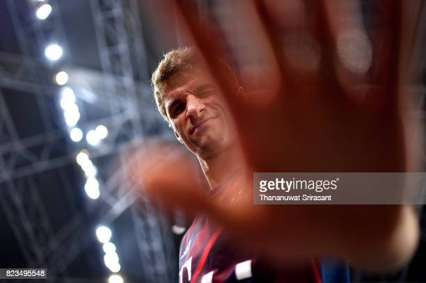 Thomas Muller of FC Bayern Munich during the International Champions Cup match between FC Bayern Munich and FC Internazionale at National Stadium on...