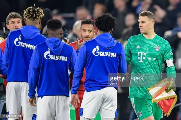 Thomas Muller of FC Bayern Munich, Jean-Clair Todibo of FC Schalke 04, Rabbi Matondo of FC Schalke 04, Corentin Tolisso of FC Bayern Munich, Weston...