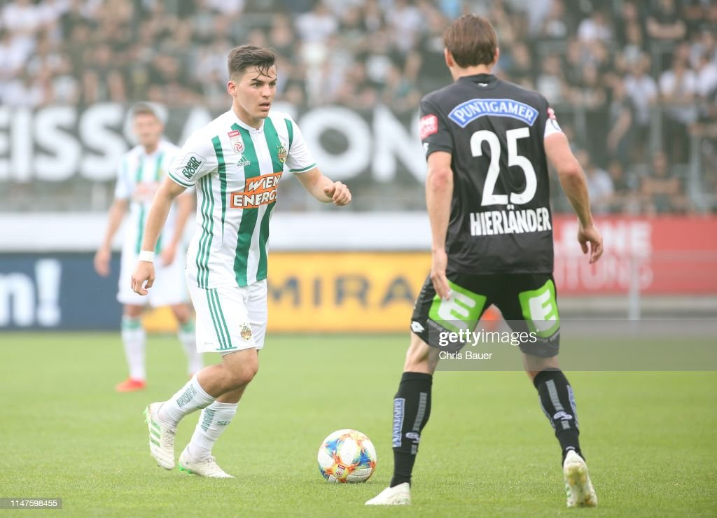 Thomas Murg Of Rapid Wien And Stefan Hierlaender Of Sturm Graz During News Photo Getty Images