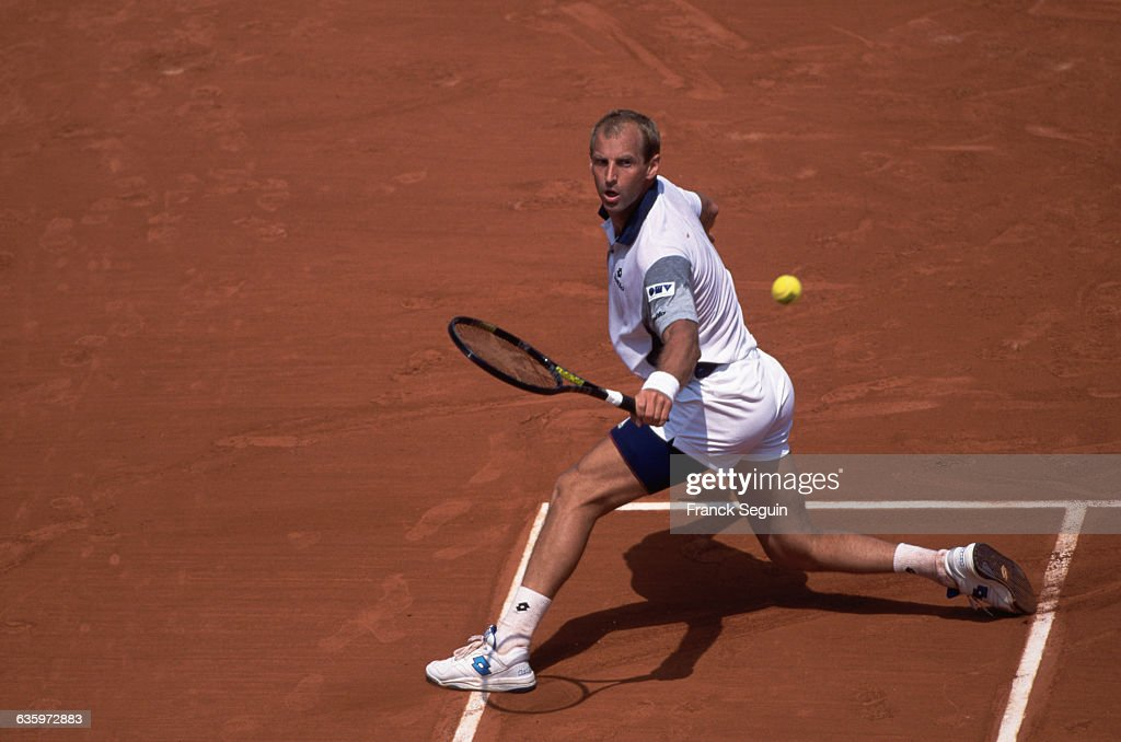 Thomas Muster at the French Open : News Photo
