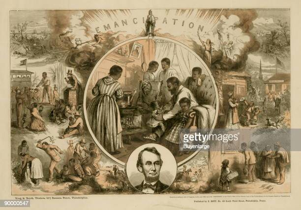 Thomas Nast's celebration of the emancipation of Southern slaves with the end of the Civil War Nast envisions a somewhat optimistic picture of the...