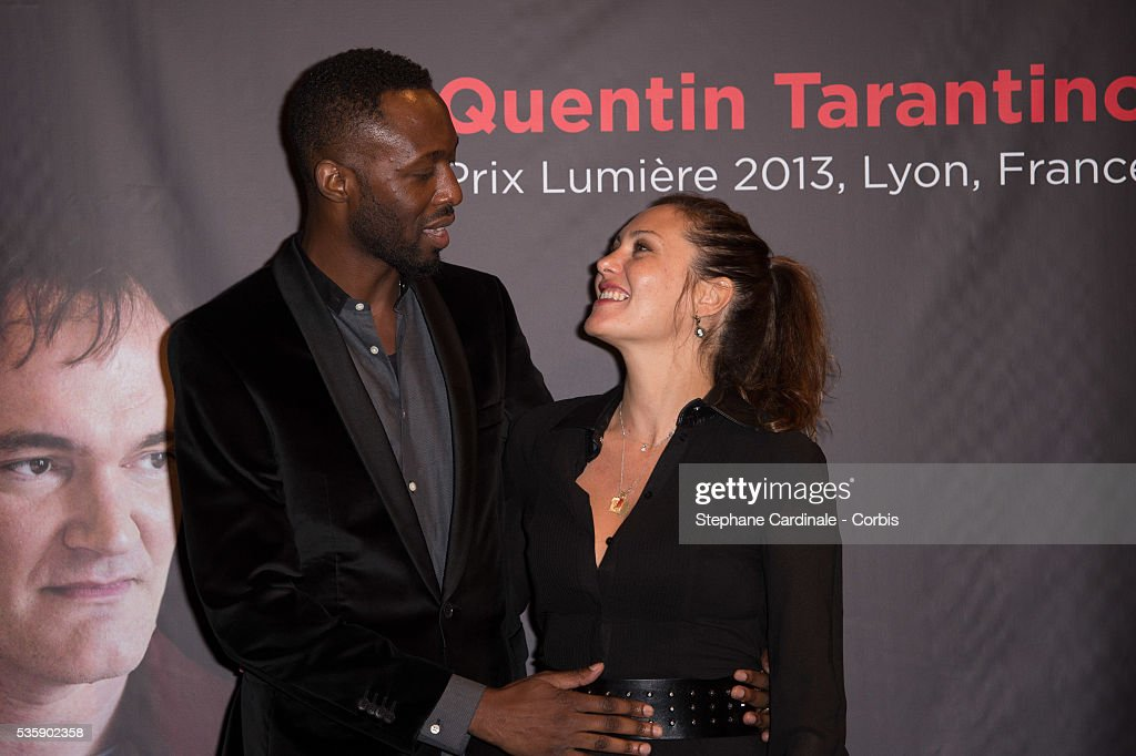Thomas Ngijol and Karole Rocher attend the Tribute to Quentin Tarantino, during the 5th Lumiere Film Festival, in Lyon.