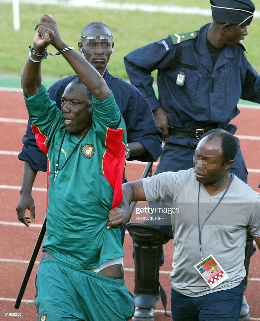Thomas N'kono, the assistant to Cameroon's German trainer Winfried ...