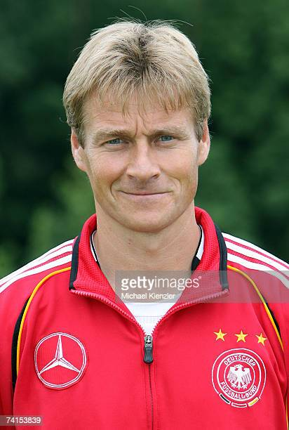 Thomas Noerenberg of the U18 German National Team poses during a photo call at LangensteinStadion on May 15 2007 in WaldshutTiengen Germany
