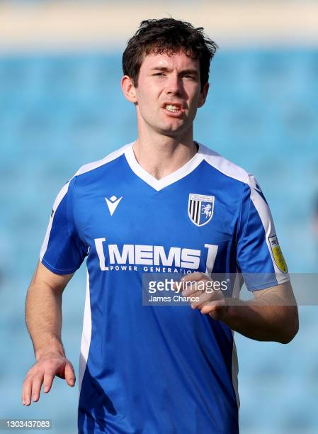 Thomas O'Connor of Gillingham FC looks on during the Sky Bet League One match between Gillingham and Bristol Rovers at MEMS Priestfield Stadium on...