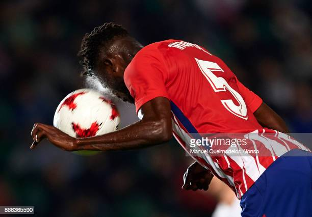 Thomas of Atletico de Madrid scores his team's first goal during the Copa del Rey first leg match between Elche CF and Atletico de Madrid at Estadio...