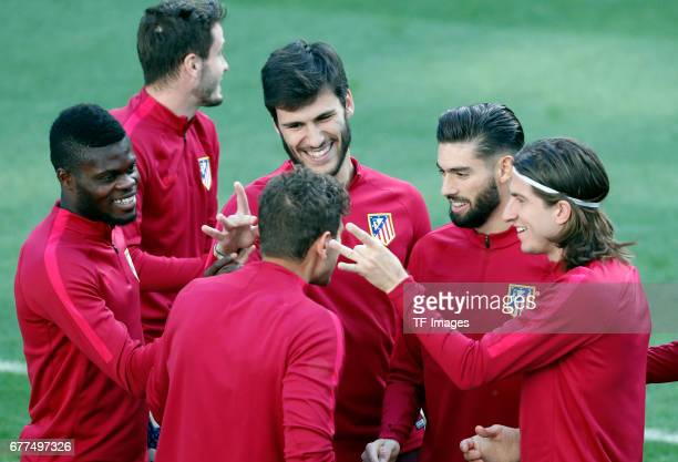 Thomas of Atletico Madrid Andre Moreira of Atletico Madrid Alessio Cerci of Atletico Madrid Yannick Carrasco of Atletico Madrid and Filipe Luis of...