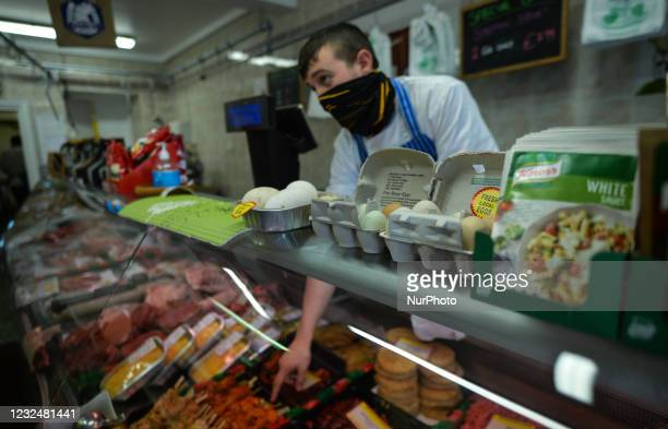 Thomas of the Moran Family Butchers at work. Laurence McGonagle took ownership of the butchers two years ago, just before the start of Covid-19...