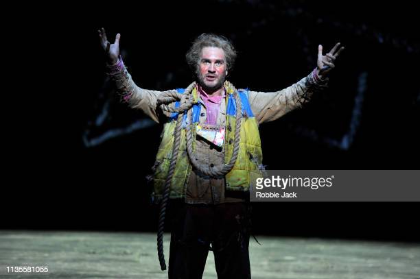 Thomas Oliemans as Papageno in English National Opera's production of Wolfgang Amadeus Mozart's The Magic Flute directed by Simon McBurney and...