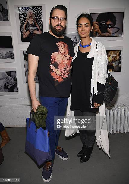 Thomas Onorato and Shruti Ganguly attend The 40th Anniversary Of Blondie exhibition at Chelsea Hotel Storefront Gallery on September 22, 2014 in New...