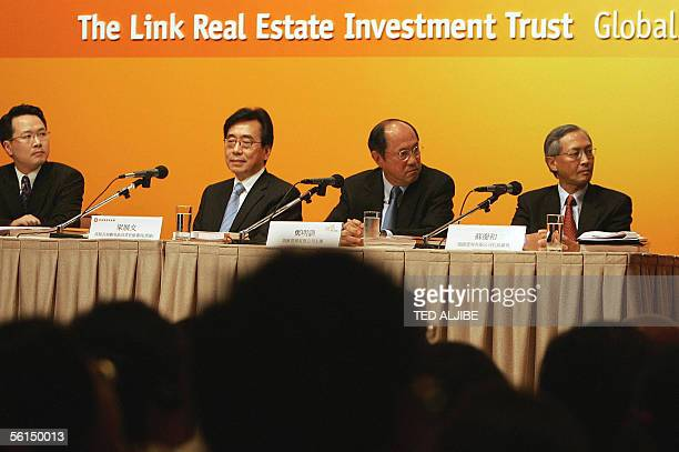 Thomas Pang director of finance for Link Management Leung Chinman Hong Kong's permanent secretary for housing planning and lands Paul Cheng Mingfun...