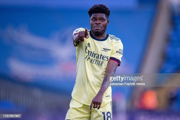 Thomas Partey of Arsenal during the Premier League match between Crystal Palace and Arsenal at Selhurst Park on May 19, 2021 in London, United...