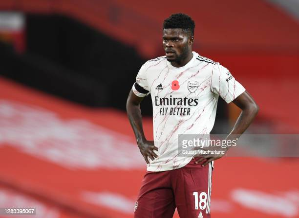 Thomas Partey of Arsenal during the Premier League match between Manchester United and Arsenal at Old Trafford on November 01, 2020 in Manchester,...
