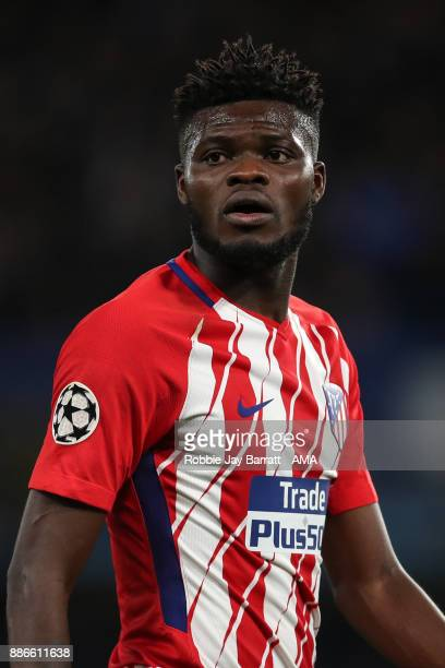 Thomas Partey of Atletico Madrid during the UEFA Champions League group C match between Chelsea FC and Atletico Madrid at Stamford Bridge on December...