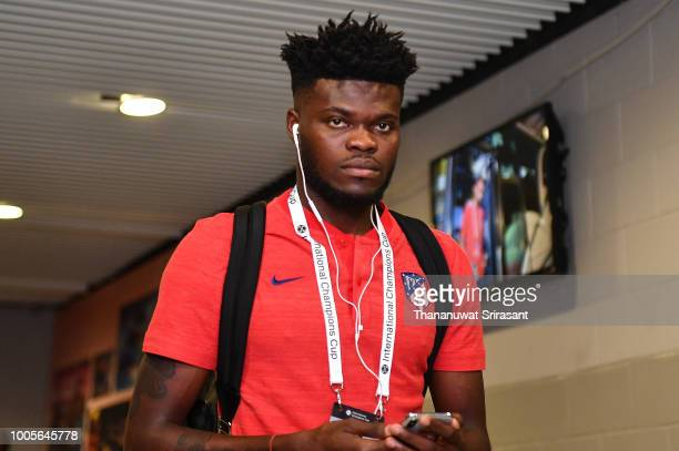 Thomas Partey of Atletico Madrid looks on prior to the International Champions Cup 2018 match between Club Atletico de Madrid and Arsenal at the...