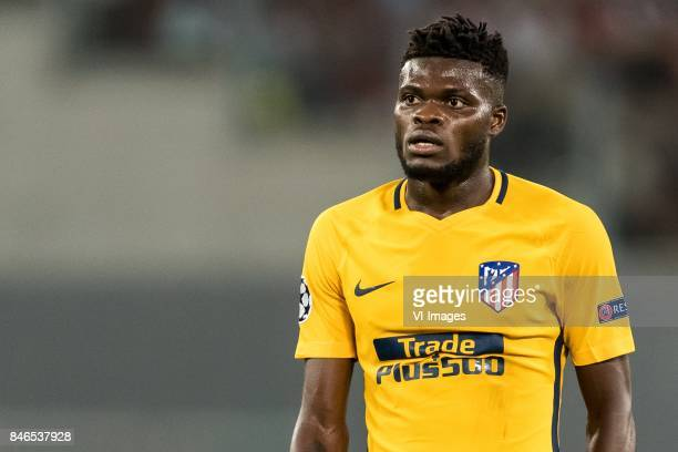 Thomas Partey of Club Atletico de Madrid during the UEFA Champions League group C match match between AS Roma and Atletico Madrid on September 12...