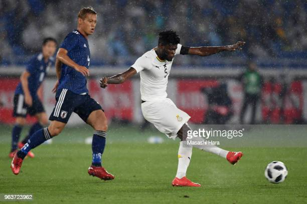 Thomas Partey of Ghana in action during the international friendly match between Japan and Ghana at Nissan Stadium on May 30 2018 in Yokohama...