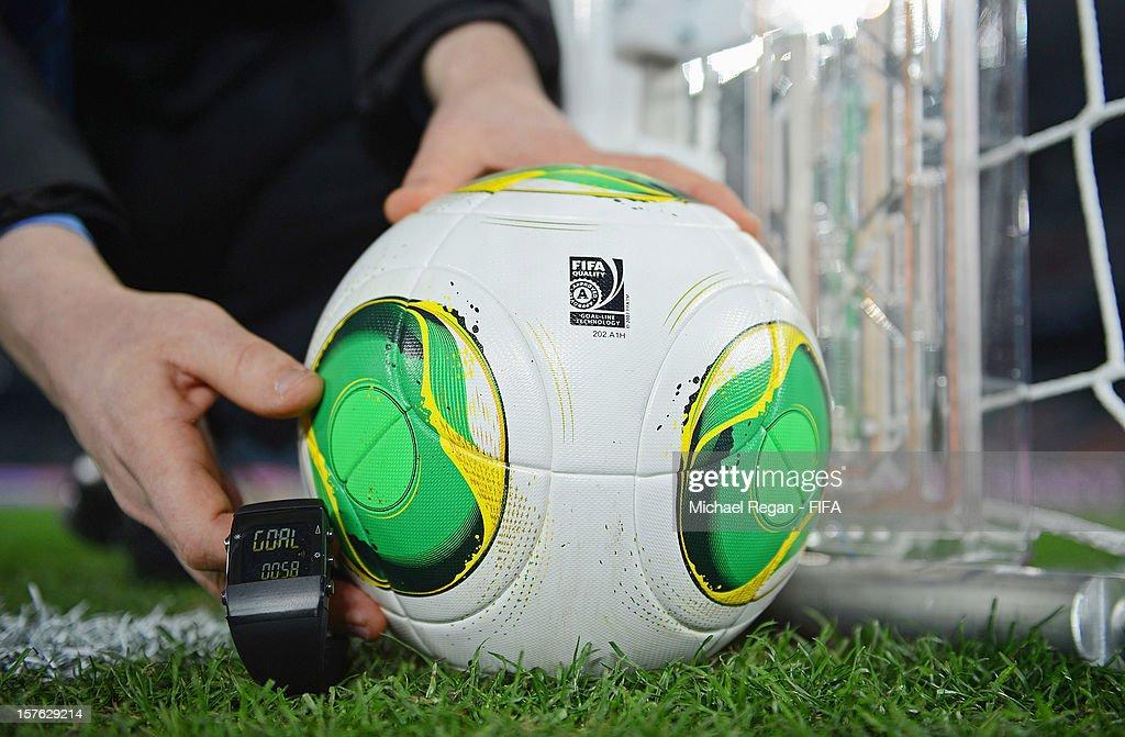 Goal-Line Technology Demonstration Ahead Of FIFA Club World Cup : News Photo