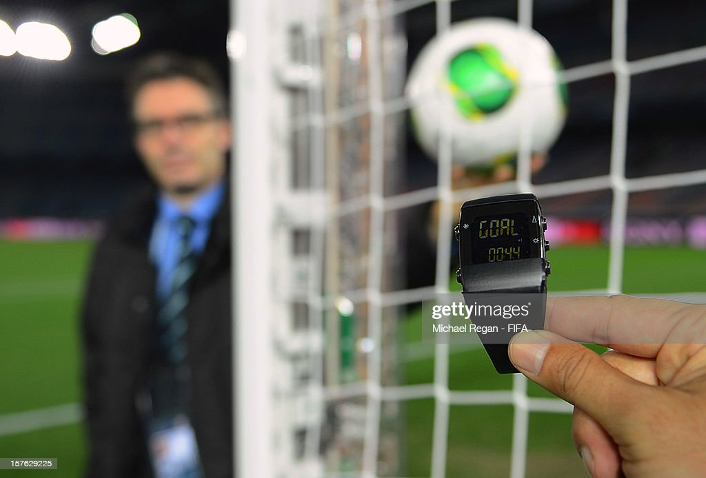 Goal-Line Technology Demonstration Ahead Of FIFA Club World Cup : News Photo