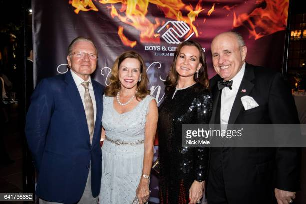 Thomas Peterffy Lynne Wheat Judith Giuliani and Rudy Giuliani attend Boys and Girls Clubs of Palm Beach County Celebrate the 36th Annual Winter Ball...