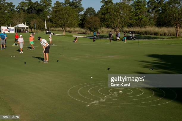 Thomas Pickrell putts during a regional round of the Drive Chip and Putt Championship at The Club at Carlton Woods on October 8 2017 in The Woodlands...