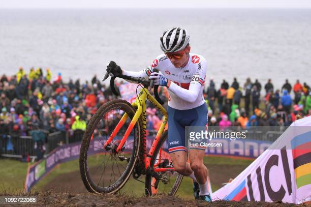 Thomas Pidcock of Great Britain and Team Great Britain / Fans / Public / during the 70th Cyclo-cross World Championships Bogense 2019, Men Under 23 /...