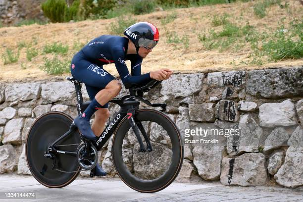 Thomas Pidcock of United Kingdom and Team INEOS Grenadiers competes during the 76th Tour of Spain 2021, Stage 1 a 7,1km individual time trial from...