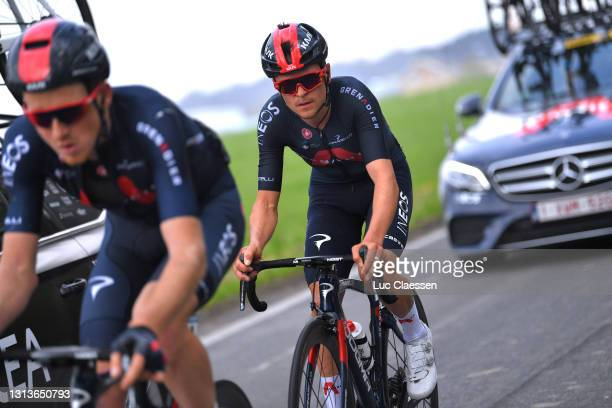 Thomas Pidcock of United Kingdom and Team INEOS Grenadiers during the 85th La Fleche Wallonne 2021, Men Elite a 193,6km race from Charleroi to Mur de...