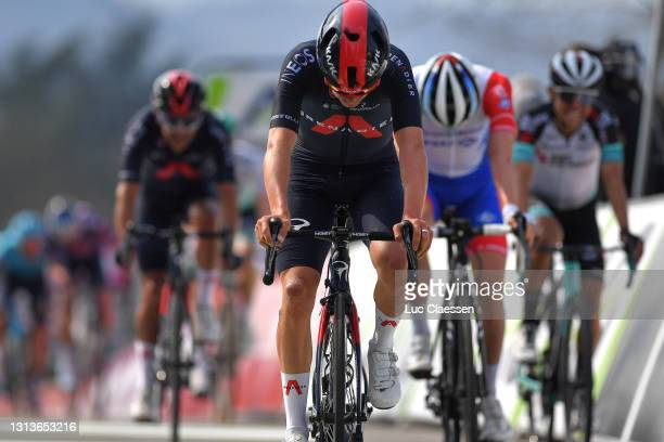 Thomas Pidcock of United Kingdom and Team INEOS Grenadiers on arrival during the 85th La Fleche Wallonne 2021, Men Elite a 193,6km race from...