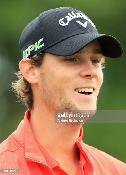 Thomas Pieters of Belgium looks on during day three of the BMW PGA Championship at Wentworth on May 27 2017 in Virginia Water England