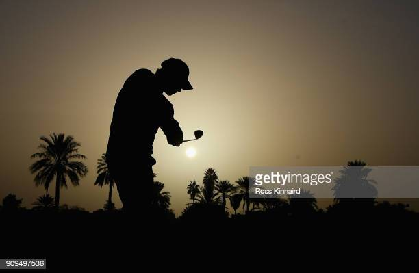 Thomas Pieters of Belgium on the 10th hole during the pro-am event prior to the Omega Dubai Desert Classic at Emirates Golf Club on January 24, 2018...