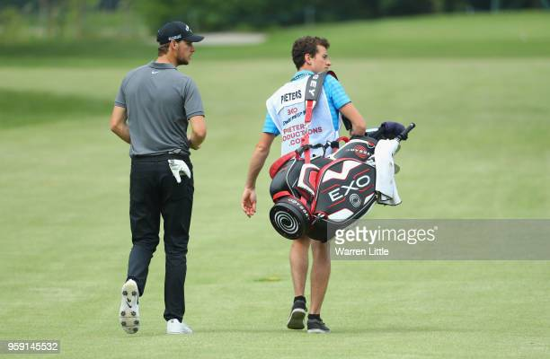 Thomas Pieters of Belgium plays a practice round ahead of the Belgian Knockout at the Rinkven International GC on May 16 2018 in Antwerpen Belgium