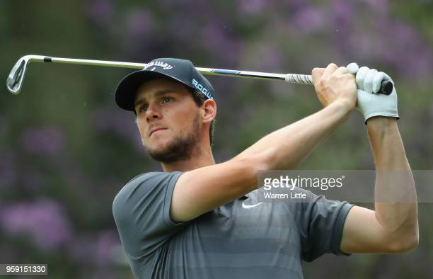 Thomas Pieters of Belgium plays in the pro am ahead of the Belgian Knockout at the Rinkven International GC on May 16 2018 in Antwerpen Belgium