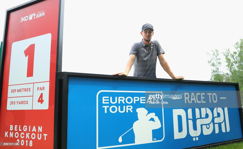 Thomas Pieters of Belgium poses for a picture as he plays in the pro am ahead of the Belgian Knockout at the Rinkven International GC on May 16, 2018 in Antwerpen, Belgium.