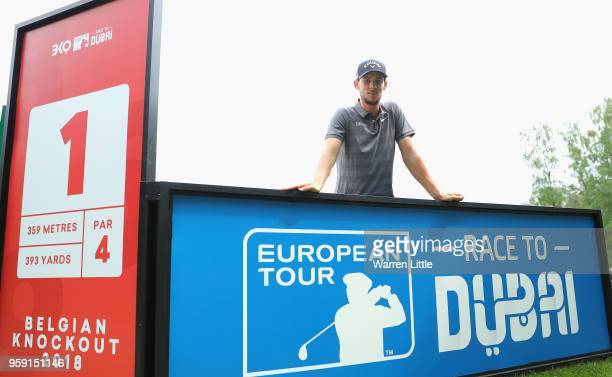 Thomas Pieters of Belgium poses for a picture as he plays in the pro am ahead of the Belgian Knockout at the Rinkven International GC on May 16 2018...