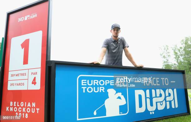Thomas Pieters of Belgium poses for a picture as he plays in the pro am ahead of the Belgian Knockout at the Rinkven International GC on May 16, 2018...