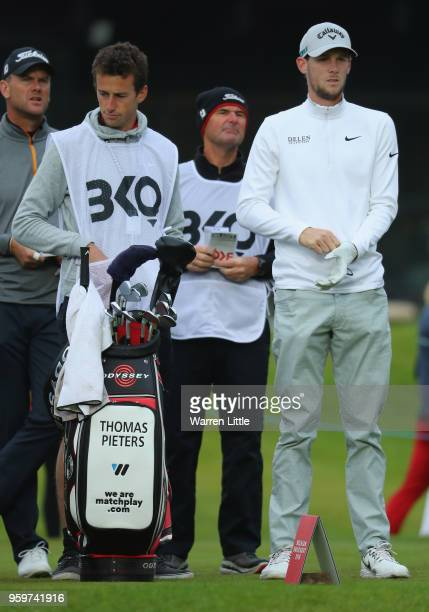 Thomas Pieters of Belgium prepares to play his shot off the 10th tee during the second round of the Belgian Knockout at at the Rinkven International...