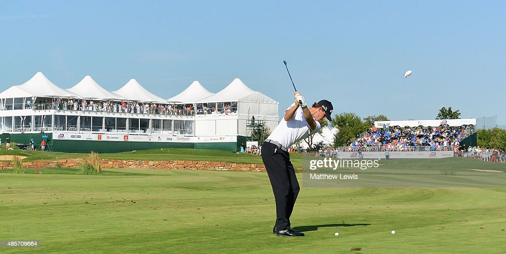 Thomas Pieters of Belguim plays his second shot from the 18th fairway during day three of the D+D Real Czech Masters at Albatross Golf Resort on August 29, 2015 in Prague, Czech Republic.
