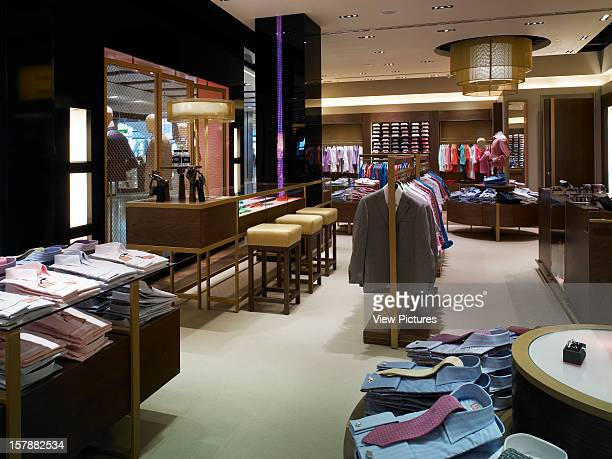 Thomas Pink Hayes United Kingdom Architect Four Iv Design Thomas Pink Looking From The Far End Of The Store Towards Business Bar Shirt Display Unit...
