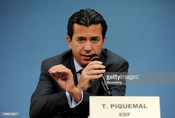 Thomas Piquemal, chief financial officer of Electricite de France SA, speaks during the Actionaria Investor Conference in Paris, France, on Friday,...