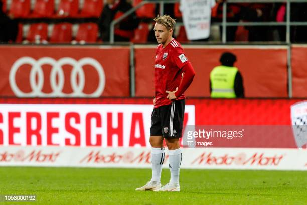 Thomas Pledl of FC Ingolstadt looks dejected during the Second Bundesliga match between FC Ingolstadt 04 and 1 FC Union Berlin at Audi Sportpark on...