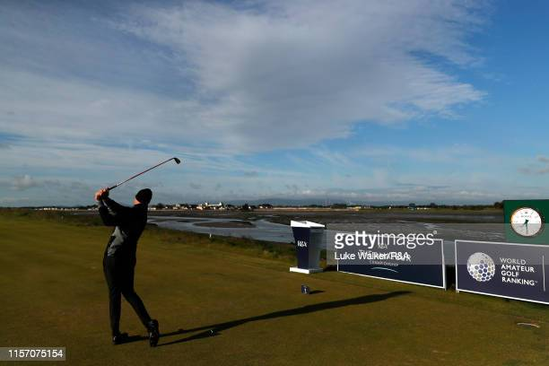 Thomas Plumb of England in action during day four of the RA Amateur Championship at Portmarnock Golf Club on June 20 2019 in Portmarnock Ireland
