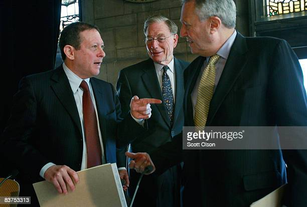 Thomas Pritzker chairman of Global Hyatt Corporation Michael Moskow former president and CEO of Federal Reserve Bank of Chicago and Gordon Segal...
