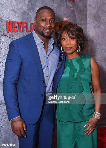 Thomas Q Jones and Alfre Woodard attend the Netflix Original Series Marvel's Luke Cage Season 2 New York City Premiere on June 21 2018 in New York...